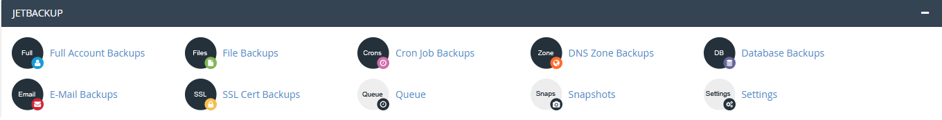 backup của cpanel