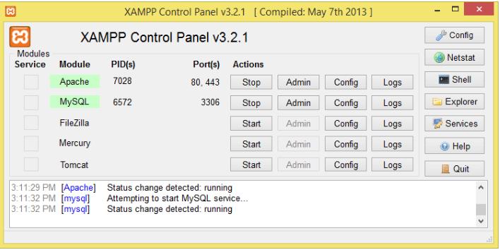 Ứng dụng Xampp